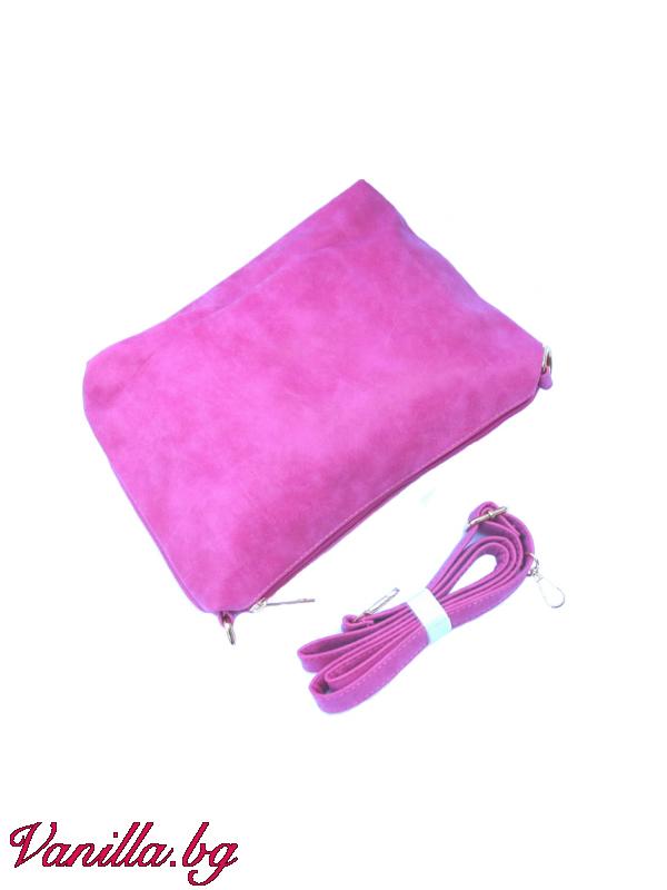 Розова дамска чанта с лазерно изрязани дупки — Чанти   vanilla.bg