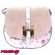 Дамска чанта за през рамо от естествена кожа - розова