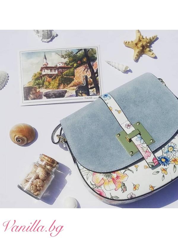 Дамска чанта за през рамо от естествена кожа