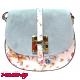 Дамска чанта за през рамо от естествена кожа - синя