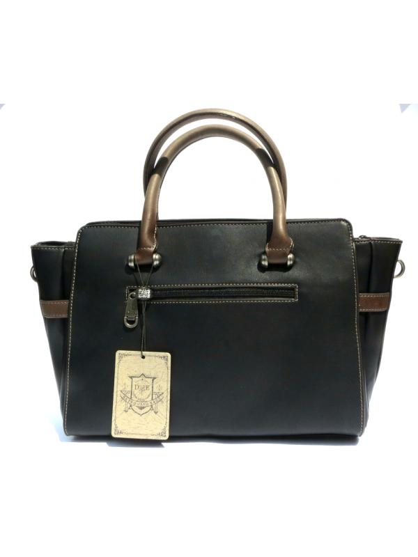 Дамска чанта в ретро стил — черна