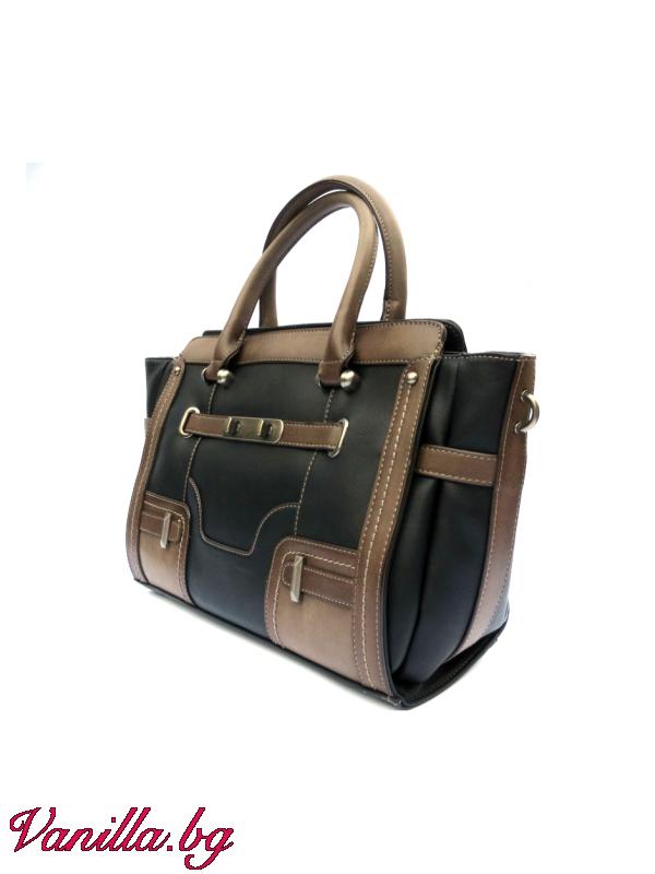 За вас - Дамска чанта в ретро стил - черна