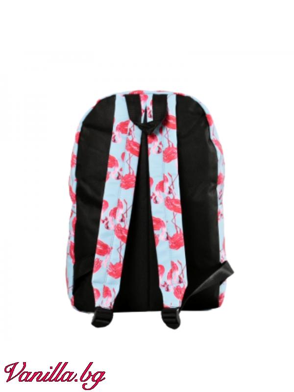 Раница с розово фламинго