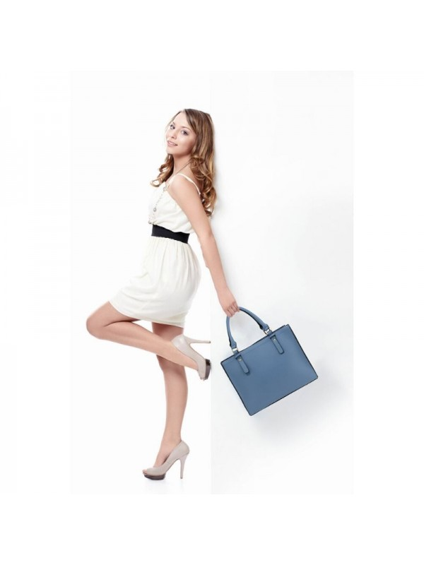 Синя дамска чанта