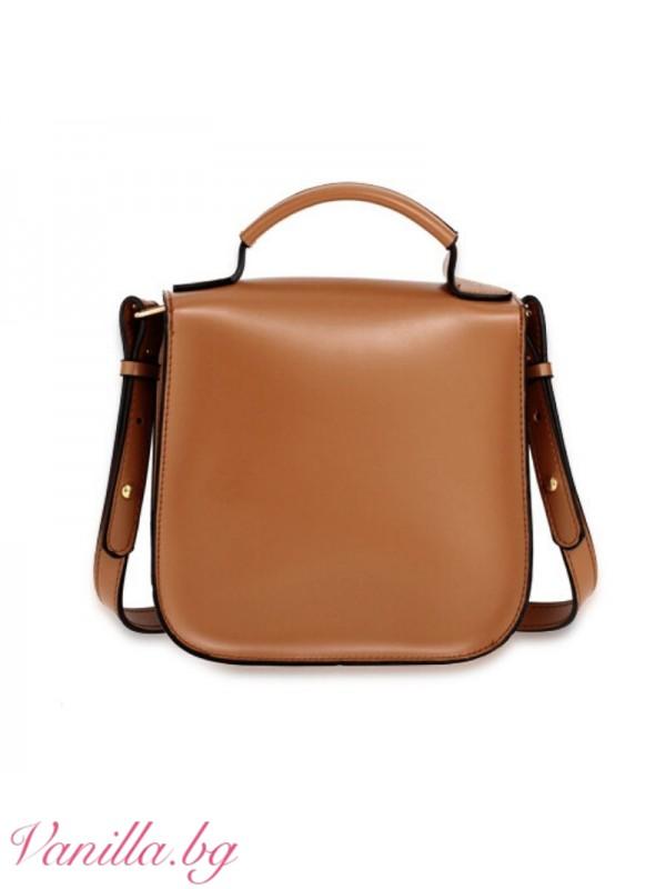 Кафява чанта за през рамо