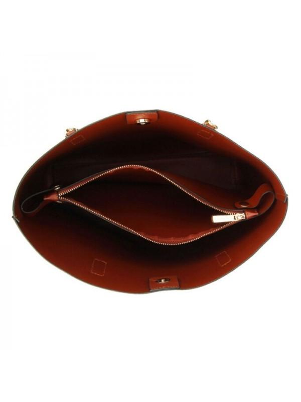 Голяма дамска чанта - кафява