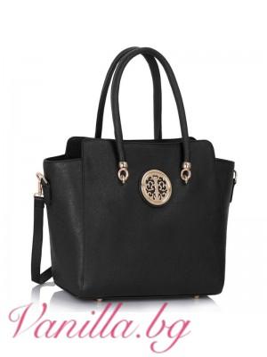 Елегантна дамска чанта - черна