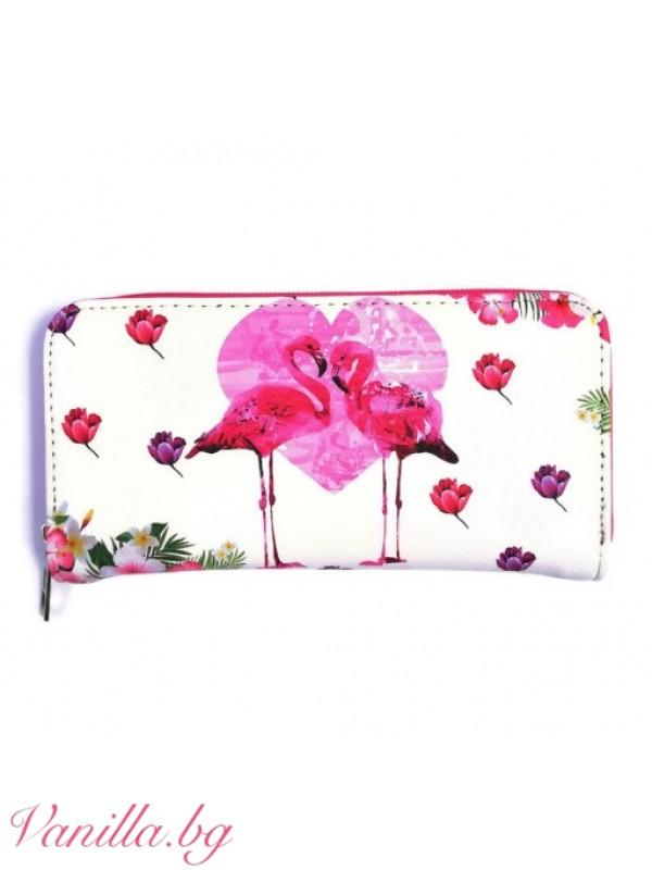 Портмоне Розово фламинго