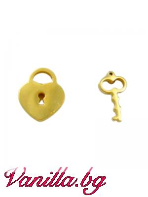 Обеци във формата на ключ и катинар
