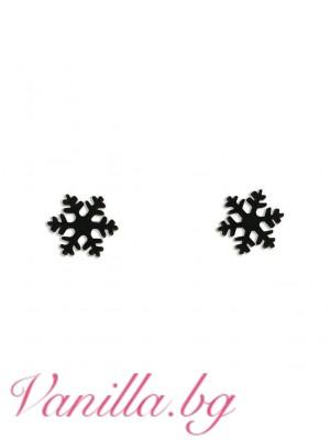 Обеци във форма на снежинки