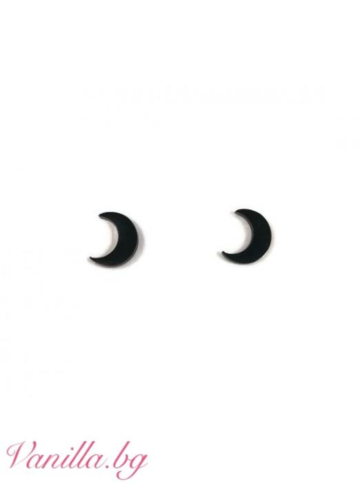 Обеци с форма на луна