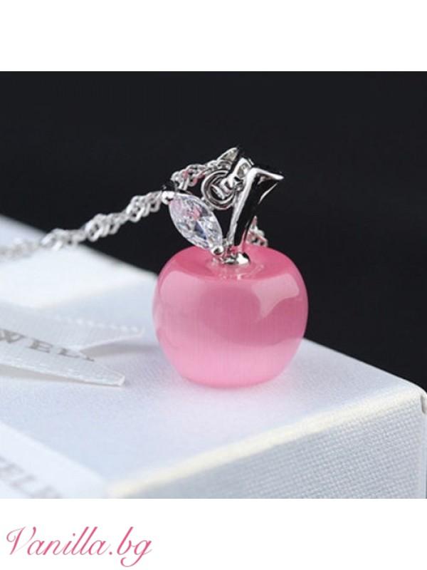 Бижута - Колие Розова ябълка