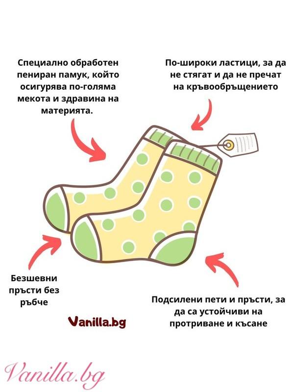 Чорапи с ноти в черно