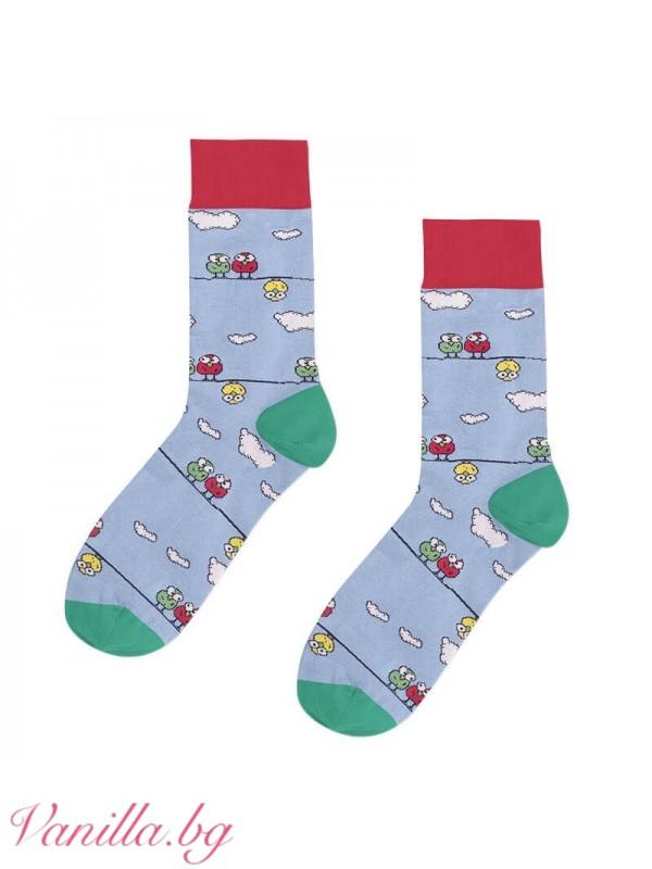 Чорапи с весели птиченца
