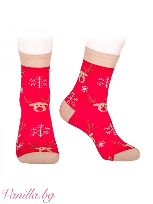 Аксесоари - Коледни чорапи с еленчето Рудолф