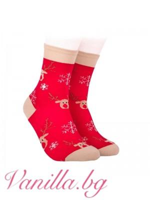 Коледни чорапи с еленчето Рудолф
