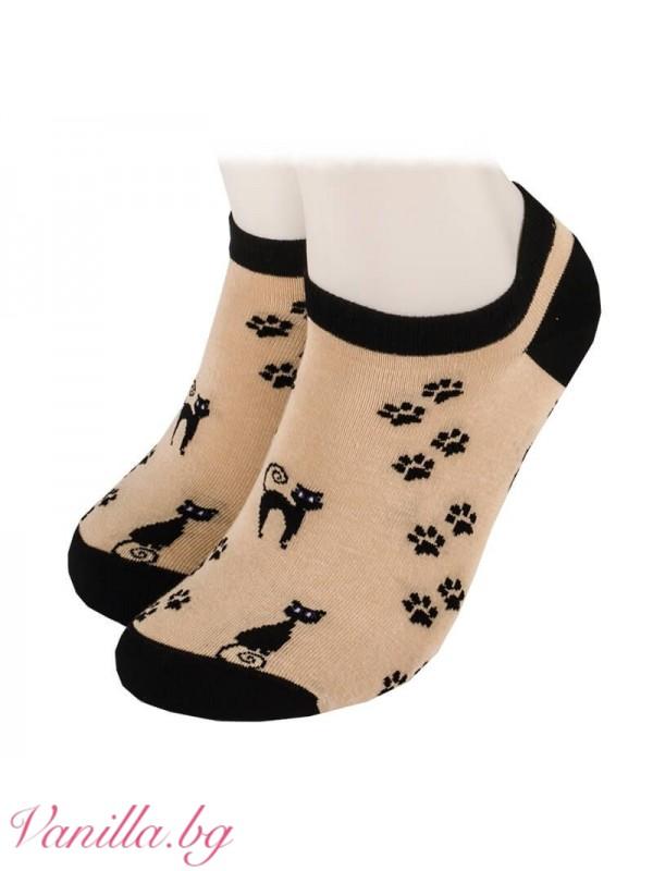 Чорапи с котенца - модел тип терлик