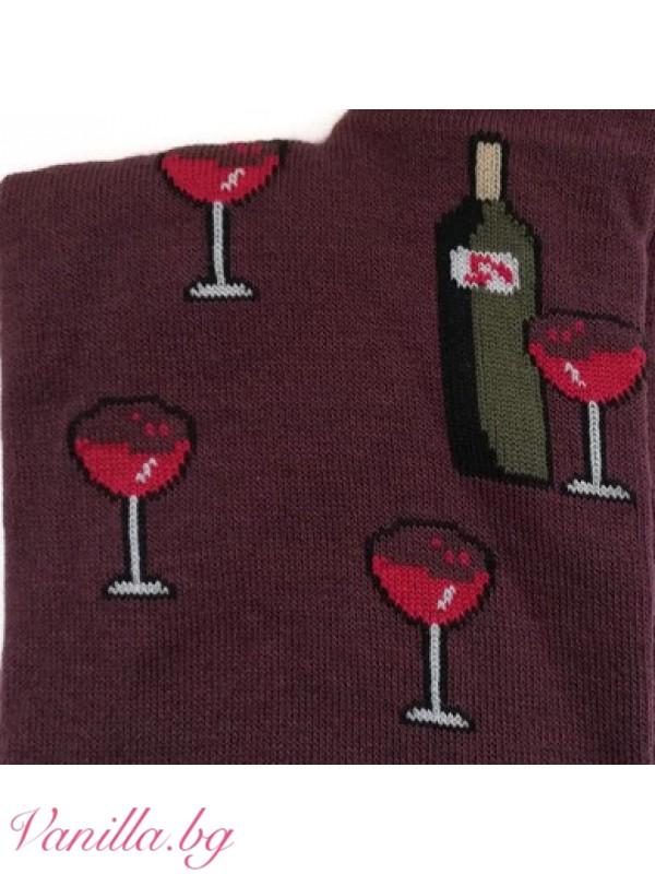Чорапи с вино и грозде в бургундско червено