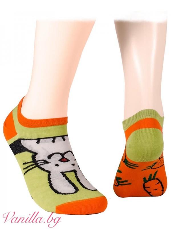 Чорапи тип терлик с великденски зайчета