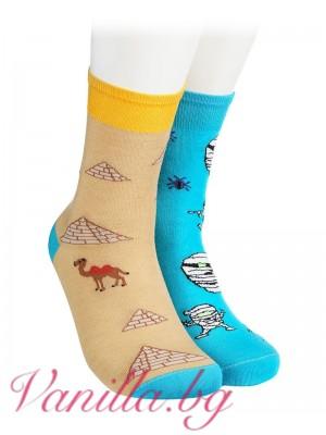 Чорапи с камили, пирамиди и египетски мумии