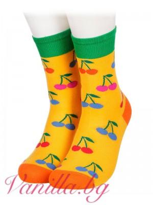 Бамбукови чорапи с череши