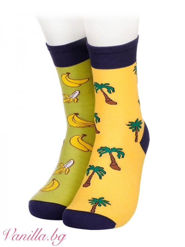 Чорапи с палми и банани