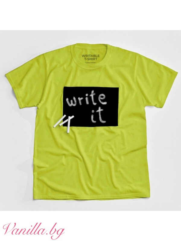 Детска тениска върху която може да се рисува с тебешири