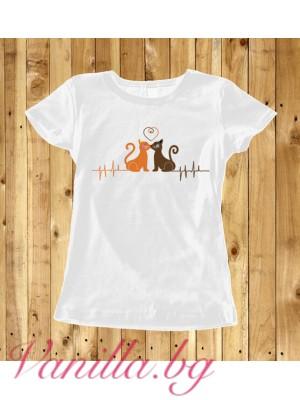 Дамска тениска Kitty Love