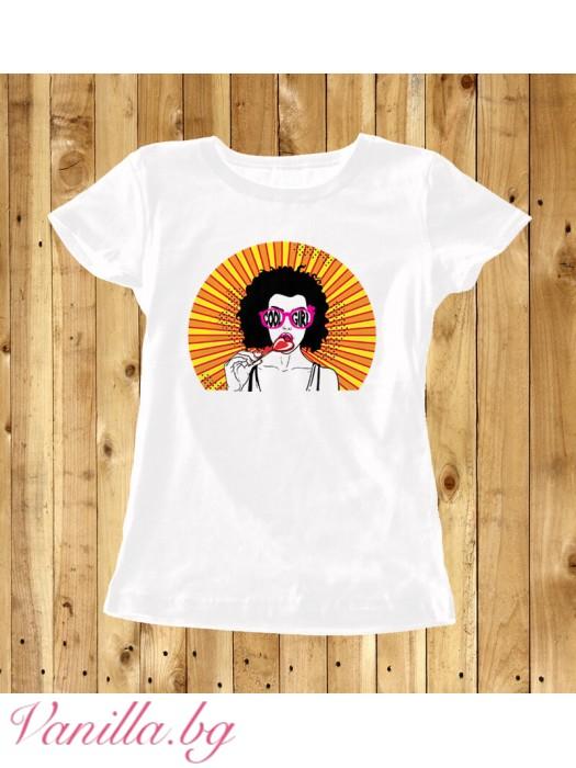 """Дамска тениска """"Слънчево момиче"""""""