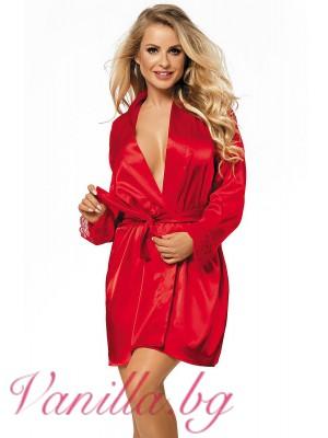 Червен сатенен халат