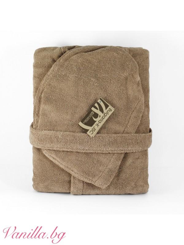 Халат за баня Ню Уейв - цвят капучино