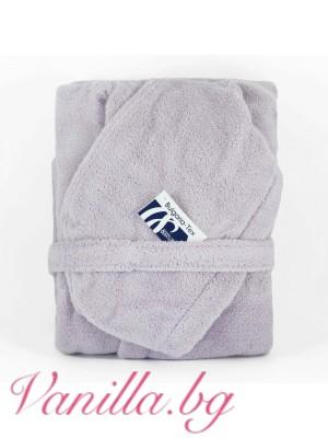 Халат за баня от микропамук - цвят лавандула
