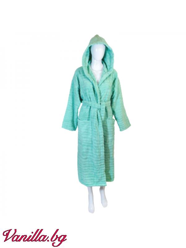 Халат за баня в ментово зелено