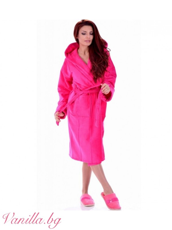 За вас - Луксозен дамски халат в цвят Циклама