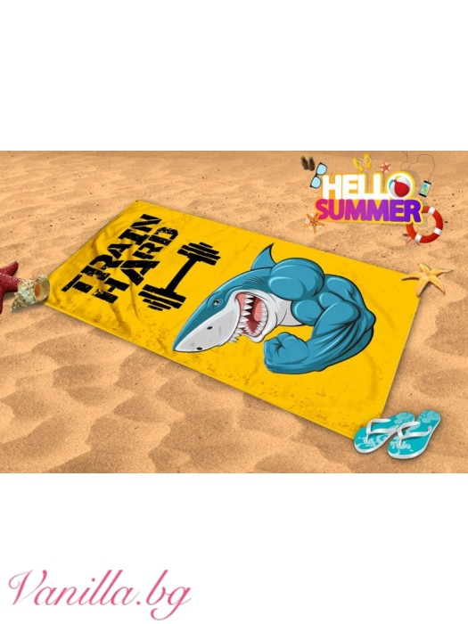 Плажна хавлия - акула