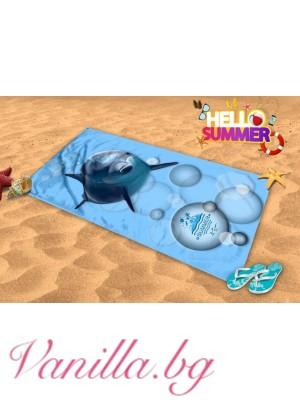 Плажна хавлия - делфин