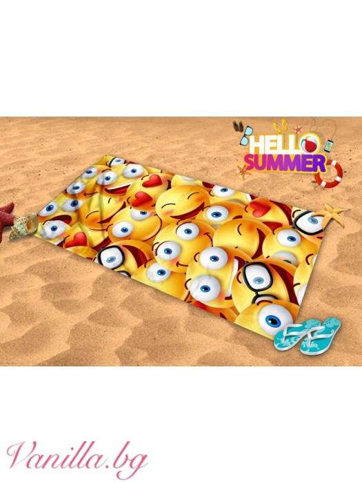 Плажна хавлия - емоджи