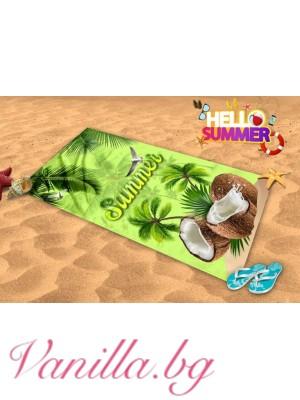 Плажна хавлия - кокосови орехи