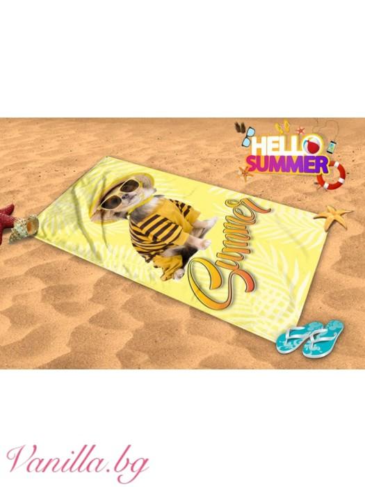 Плажна хавлия - кученце