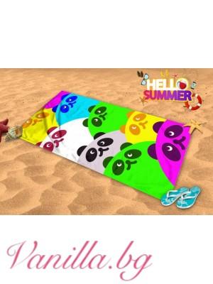 Плажна хавлия - панда