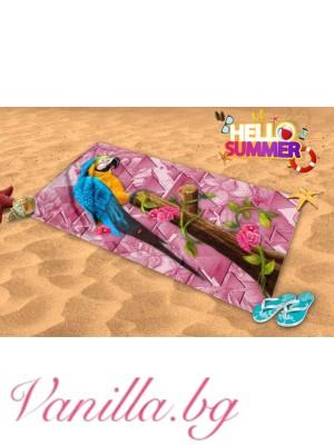 Плажна хавлия - папагал