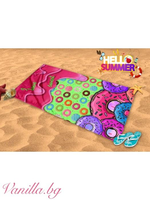 Плажна хавлия - понички