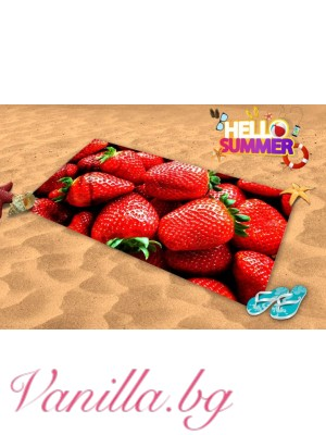 Плажна хавлия - сочни ягоди