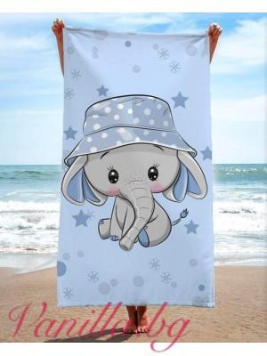 Детска плажна хавлия - слонче