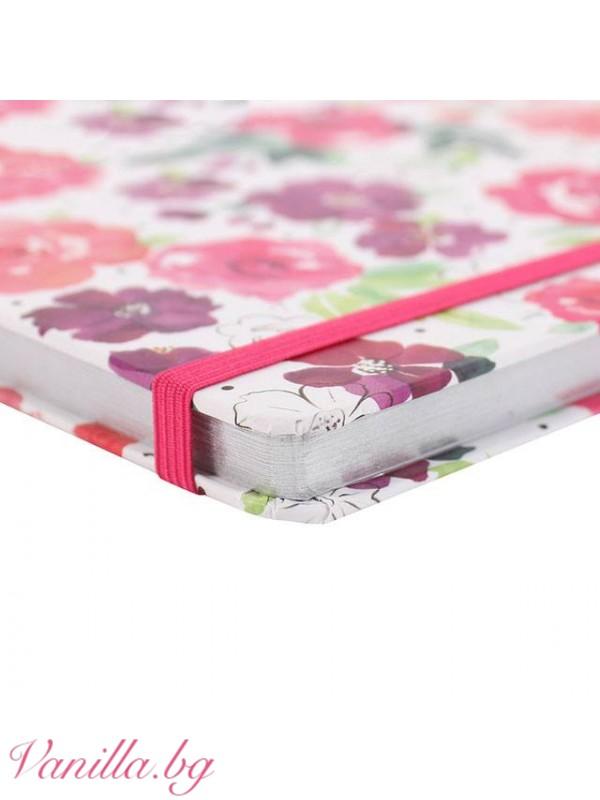 Комплект тефтер, несесер и бележник с магнит за хладилник Floral Fusion