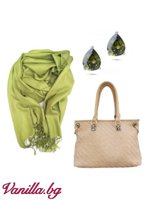 Подаръчен комплект Spring Mood - чанта, шал и обеци