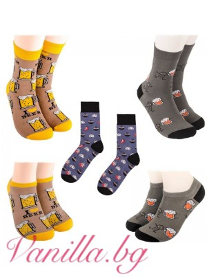 Комплект весели чорапи за любителите на бирата и шкембе чорбата