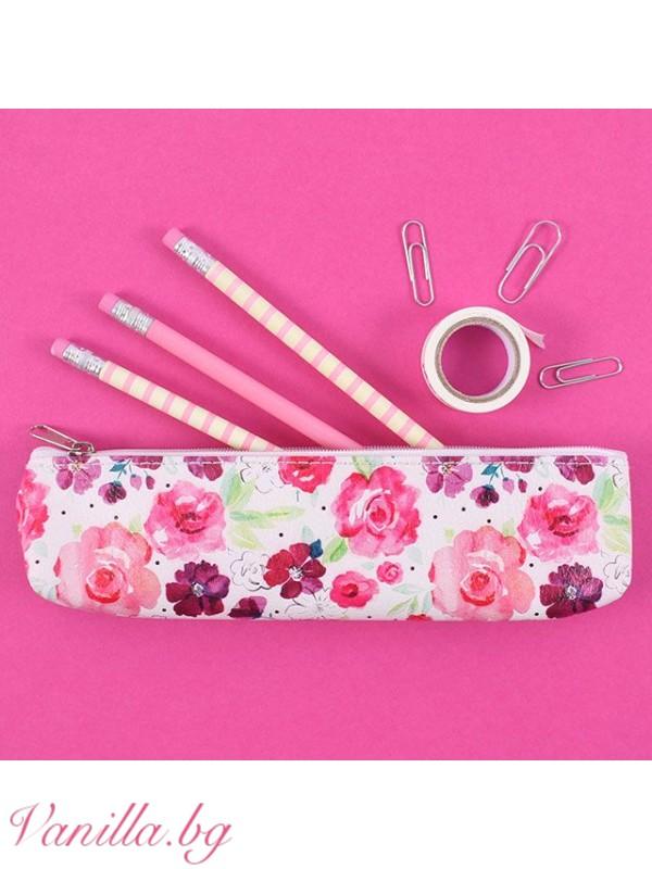 За офиса - Несесер за моливи и химикали Floral Fusion