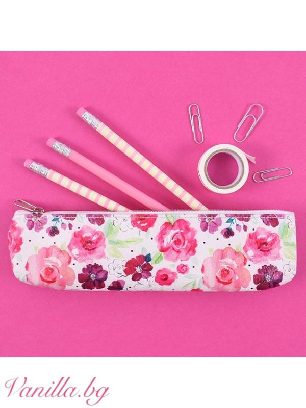 Несесер за моливи и химикали Floral Fusion