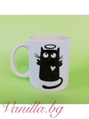 Чаша с котенце и котешки лапички